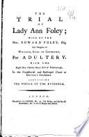 The Trial of Lady Ann Foley
