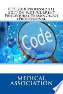 CPT 2018 Professional Edition (CPT/Current Procedural Terminology (Professional)