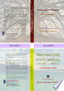 """TRAVANCORE STATE MANUAL: with foreword by VED from VICTORIA INSTITUTIONS"" by V. NAGAM AIYA, VED from VICTORIA INSTITUTIONS"