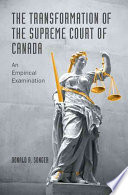 The Transformation of the Supreme Court of Canada Book