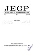 JEGP, Journal of English and Germanic Philology