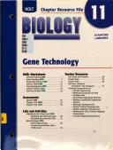 Chapter Resource 11 Geme Technology Biology