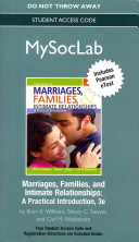 New Mysoclab with Pearson Etext    Standalone Access Card    For Marriages  Families  and Intimate Relationships