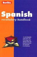 Spanish Vocabulary Handbook