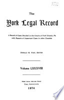 The York Legal Record