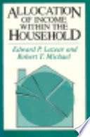 Allocation Of Income Within The Household
