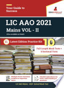 LIC AAO Mains VOL   II 2020   10 Full length Mock Test   6 Sectional Tests