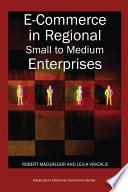 E Commerce in Regional Small to Medium Enterprises