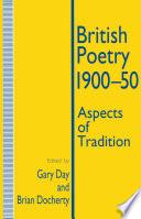 British Poetry, 1900-50