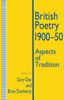 British Poetry  1900 50