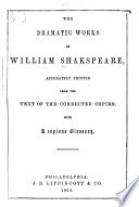 The Dramatic Works of William Shakespeare Book