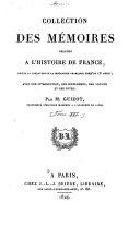 Collection des mémoires relatifs à l'histoire de France