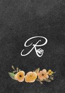 Initial Monogram Letter R on Chalkboard Book PDF