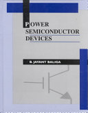 Power Semiconductor Devices Book