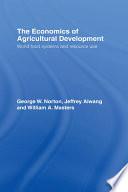 The Economics Of Agricultural Development