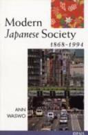 Modern Japanese Society  1868 1994