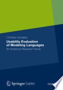 Usability Evaluation of Modeling Languages