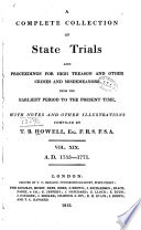 A Complete Collection Of State Trials And Proceedings For High Treason And Other Crimes And Misdemeanors PDF