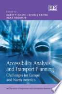 Accessibility Analysis and Transport Planning Book