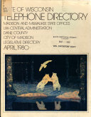 State of Wisconsin Telephone Directory Book