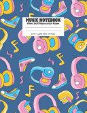 Music Notebook Wide Staff Manuscript Paper Book PDF