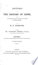 Lectures on the History of Rome Book