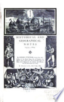 Historical and Geographical Notes, 1453-1869