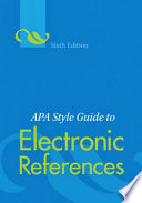 APA style guide to electronic references