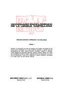 Diccionario enciclopédico Mayor de la lengua castellana ...