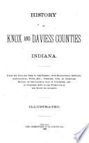 History of Knox and Daviess Counties  Indiana Book
