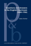 Pdf Questions and Answers in the English Courtroom (1640–1760)