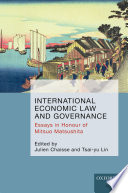 International Economic Law And Governance
