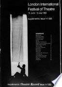 Theatre Record  , Volume 13,Edições 10-19