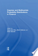 Copulae And Multivariate Probability Distributions In Finance Book PDF