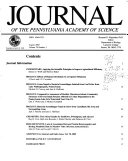 Journal of the Pennsylvania Academy of Science Book
