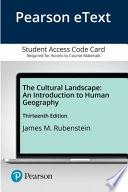 The Cultural Landscape - Pearson Etext Access Card