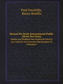 Pdf Manuel De Droit International Public (Droit Des Gens) Telecharger