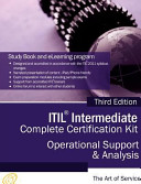 ITIL Operational Support and Analysis  OSA  Full Certification Online Learning and Study Book Course   the ITIL Intermediate OSA Capability Complete Certification Kit  Third Edition