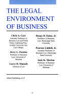 The Legal Environment of Business