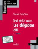 Droit civil 2e année, les obligations 2019