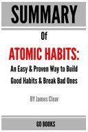 Summary of Atomic Habits