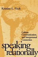 Speaking Relationally