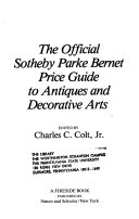 The Official Sotheby Parke Bernet Price Guide to Antiques and Decorative Arts