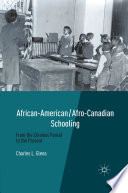 African American Afro Canadian Schooling