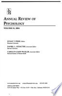 Annual Review of Psychology, Volume 55