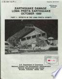 Earthquake Damage  Loma Prieta Earthquake  October 1989