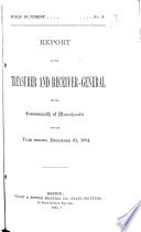 An Account of the State of the Treasury of the Commonwealth of Massachusetts