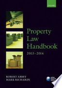 Property Law Handbook 2013-2014