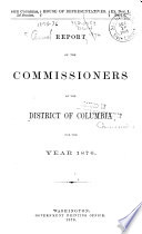 Annual Report of the Commissioners of the District of Columbia     Book