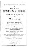 Lippincott's Pronouncing Gazetteer